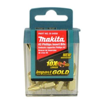 Makita B-34958 Impact Gold #2 Phillips Insert 15pc Bit Set