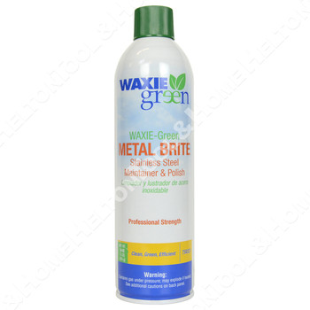 Waxie Green 16 ounce Metal Maintainer and 16oz Glass Cleaner w/ Two Waxie Blue Microfiber Cloths