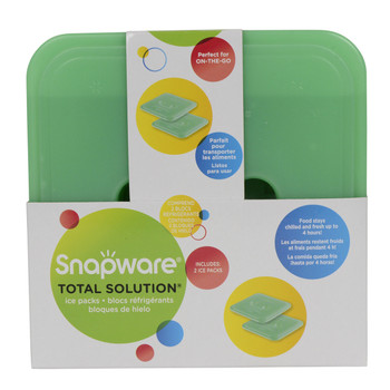 Snapware Total Solution On-The-Go Medium Square Ice Pack - 2 Per Pack