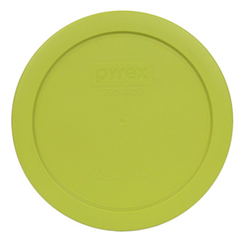 Pyrex 7201 4 Cup Black Cat Glass Bowl w/ 7201-PC Edamame Green Lid