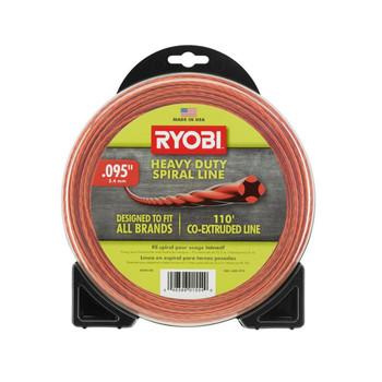 "Ryobi Tools AC04148 .095"" x 110' Heavy-Duty Spiral Gas Trimmer Line"