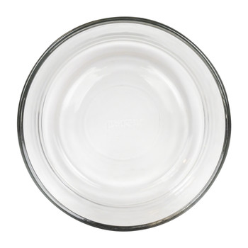 Pyrex 7201 clear glass storage bowl holds 4 cups