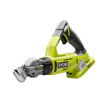 Ryobi P591 18V ONE+ 18-Gauge Rotating Head Offset Shear, Tool Only
