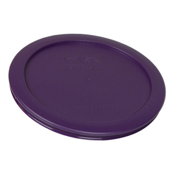 Pyrex 7201-PC (1) Turquoise & (1) Purple Round Plastic Replacement Lid
