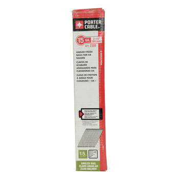 "Porter Cable PDA15250-2 2-1/2"" 15-Gauge D/A Angle Finish Nails"