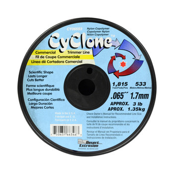 """Cyclone CY065S3 0.065"""" 300ft Blue Commercial Trimmer Line Made in USA"""