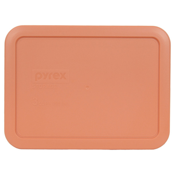 Pyrex 7210-PC Bahama Sunset 3 Cup, 750ml Rectangle Storage BPA Free Cover