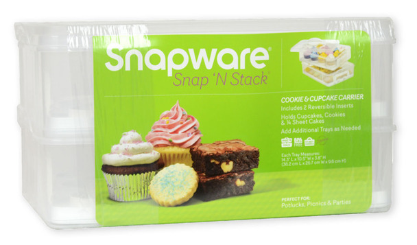 Snapware 1098736 2-Layer Snap n' Stack Portable Dessert Carrier