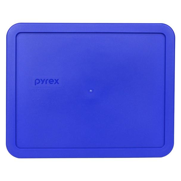 Pyrex 7212-PC Cobalt Blue 11 Cup, 2.6L Plastic Rectangle Lid