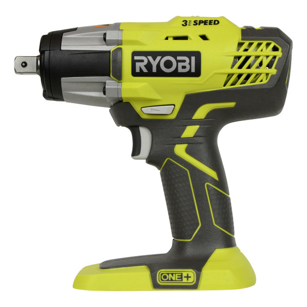 "Ryobi P261 18V ONE+ 1/2"" Cordless 3-Speed Impact Wrench, Tool Only"