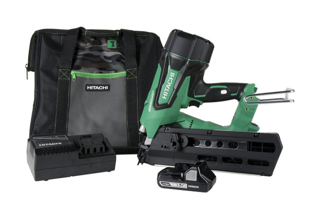 "Hitachi NR1890DR 18V 3-1/2"" Brushless Cordless Framing Nailer Kit"