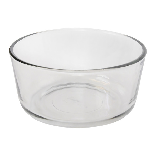 Pyrex 7201 4 Cup Round Clear Glass Storage Bowl