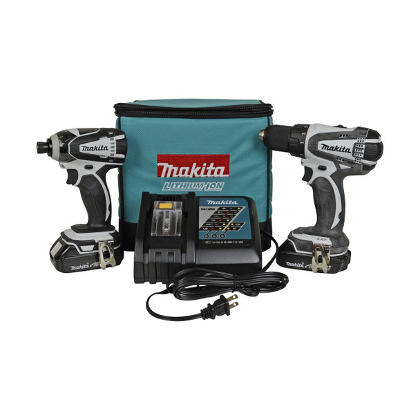 CT200RW reconditioned Makita 2-tool kit with batteries and charger