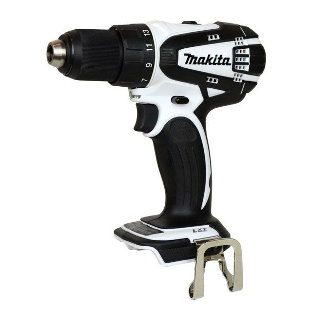XFD01Z white 18v Makita drill driver with belt hook