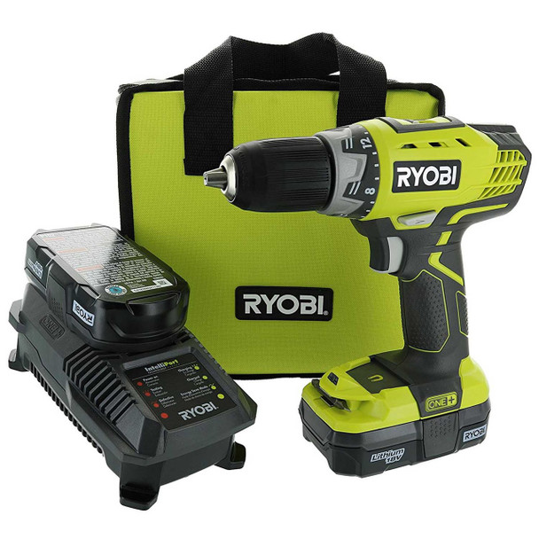 Ryobi P1811 18V ONE+ Compact Lithium-Ion Drill Driver Tool Kit