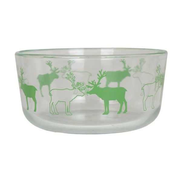 Pyrex 7201 4 Cup Green Decorative BPA-Free Glass Bowl