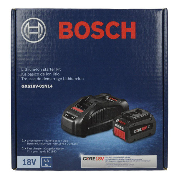 Bosch GXS18V-01N14 CORE18V Lithium-Ion Battery and Charger Starter Kit
