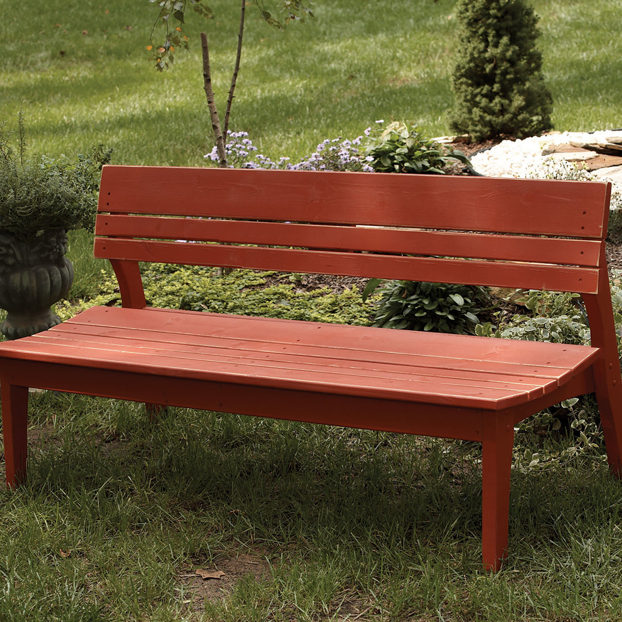 Polymer Four Seat Bench With Back In The Behrenu0027s Collection From Uwharrie  Chair Company In Rustic
