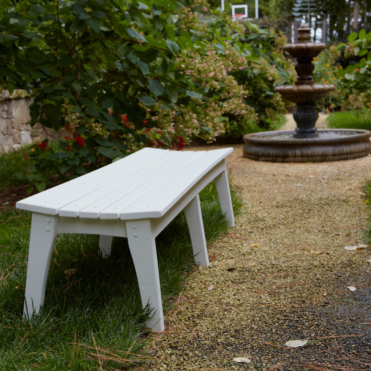 Polymer Three Seat Bench In The Behrenu0027s Collection From Uwharrie Chair  Company In White