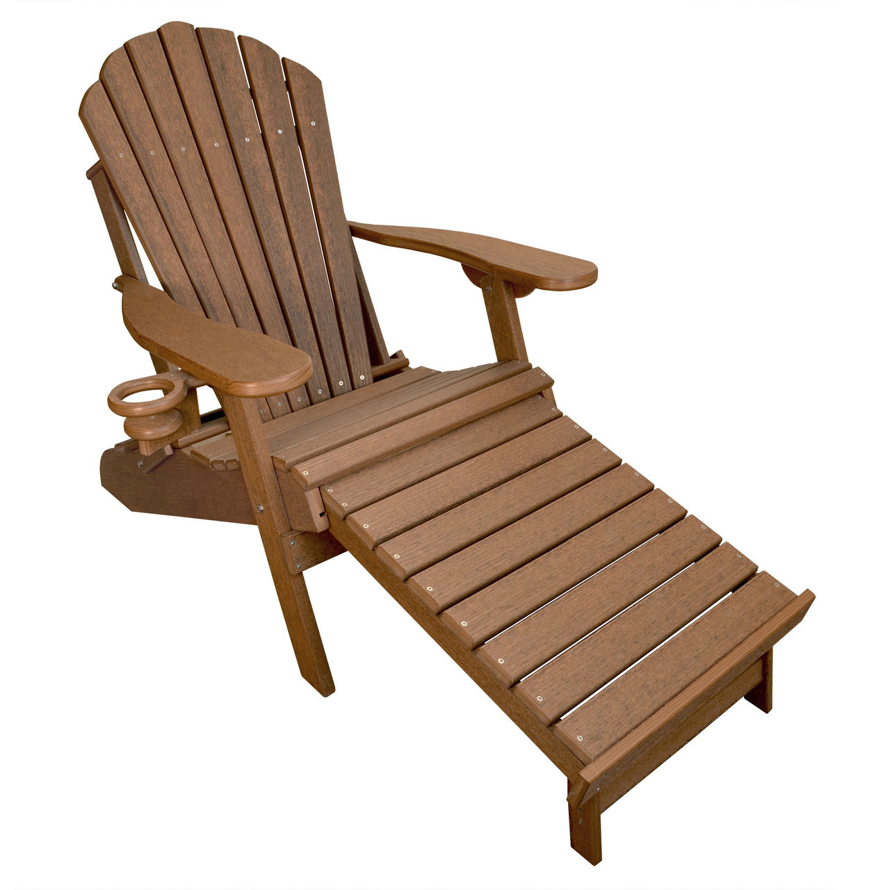 Merveilleux Deluxe Outer Banks Adirondack Chair With Integrated Footrest   Antique  Mahogany
