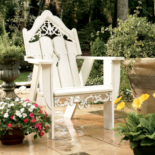 Polymer Adirondack Style Chair In The Veranda Collection From Uwharrie Chair  Company In White