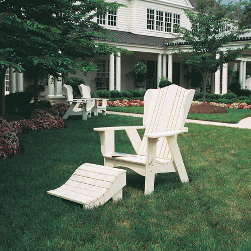 Beau Polymer Adirondack Style Chair In The Plantation Collection From Uwharrie  Chair Company In White ...