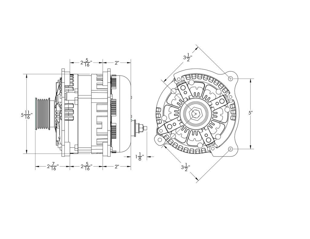 370 amp Alternator for Volkswagen Jetta / Beetle / Golf / GTI