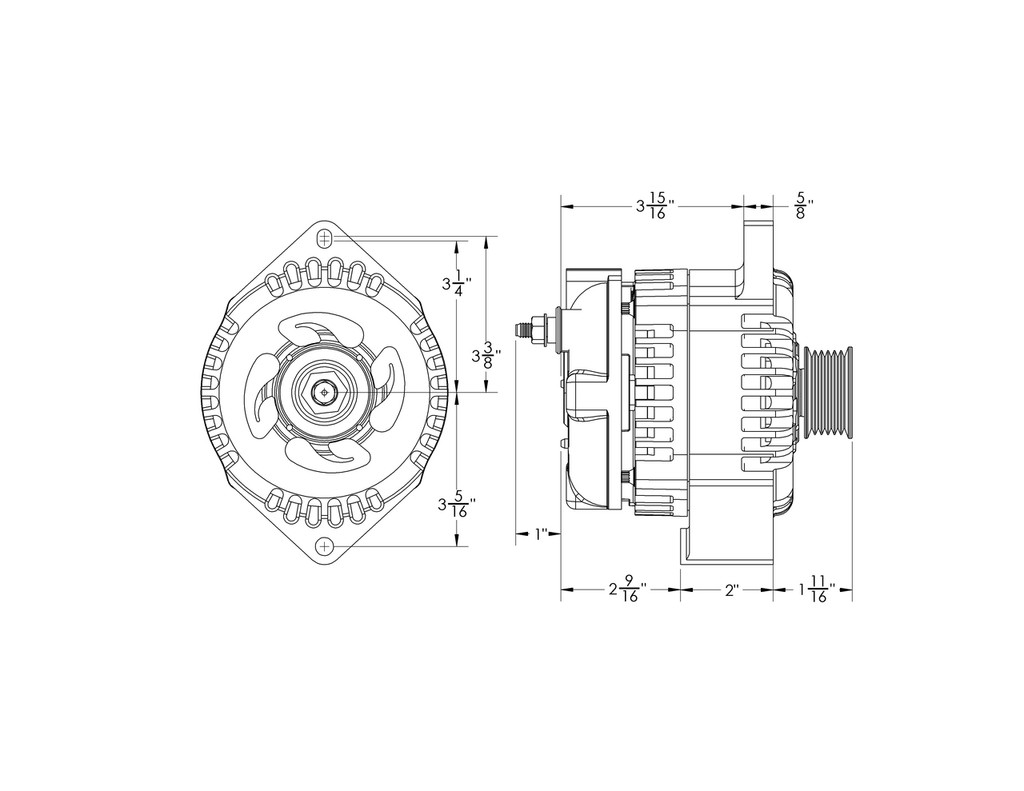 Delco 11si Alternator Wiring Diagram Libraries High Output Library170 Amp Marine To Replace 20827
