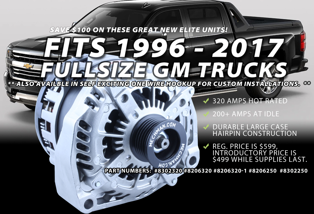 Mechman Alternators Made In The U S A High Output Alternators 84 Chevy  Alternator Wiring Diagram 2001 Chevy Ls Truck Alternator Wiring