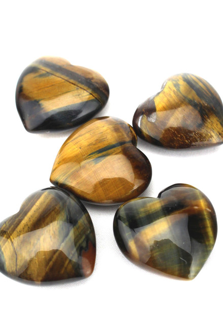 Golden Tiger Eye Hearts
