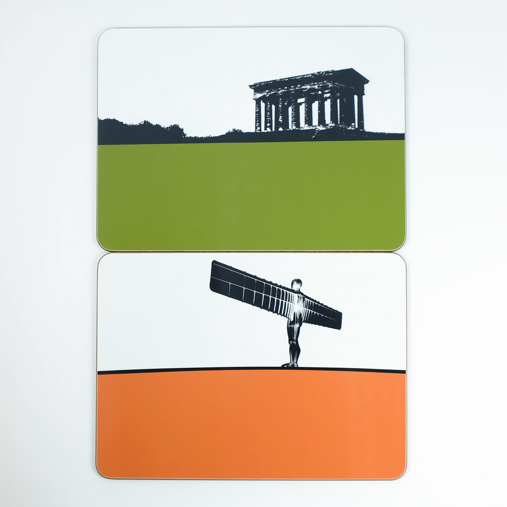 Penshaw Monument Sunderland and Angel of the North Gateshead Placemats - Jacky Al-Samarraie