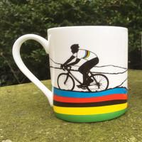 Rainbow Jersey Cycling Mug