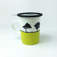 Landscape mug and tea filter