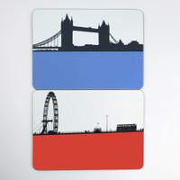 Tower Bridge & London Eye Tablemats by Jacky Al-Samarraie