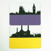 Houses of Parliament & Battersea Power Station Placemats - The Art Rooms