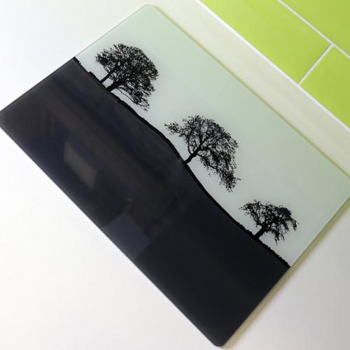 Jacky Al-Samarraie Landscape Glass Worktop Saver - Grey