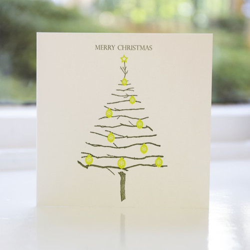 Jacky Al-Samarraie Baubles Letterpress Christmas Card