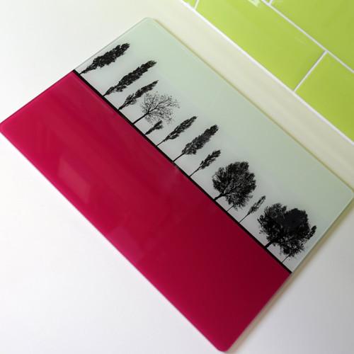 Jacky Al-Samarraie Landscape Glass Worktop Saver - Pink - SPECIAL OFFER