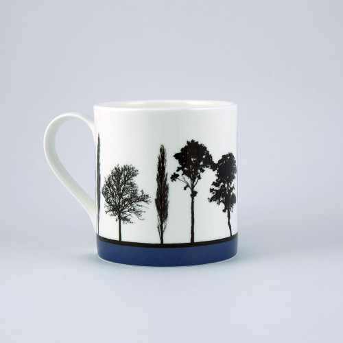 Jacky Al-Samarraie Blue Landscape Tree Bone China Mug