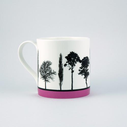 Jacky Al-Samarraie Pink Landscape Tree Bone China Mug