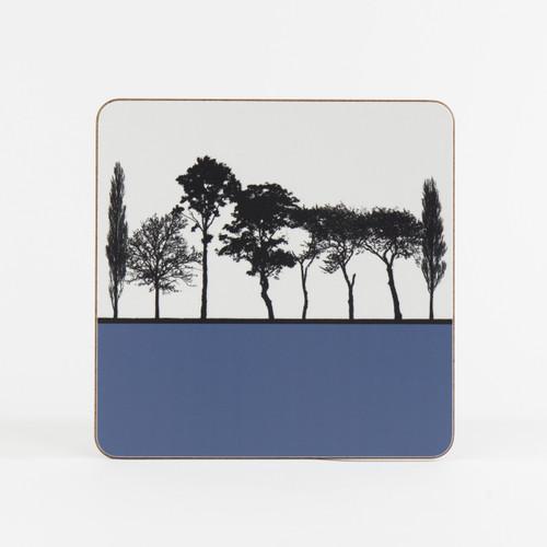 Blue British landscape table mat by designer Jacky Al-Samarraie