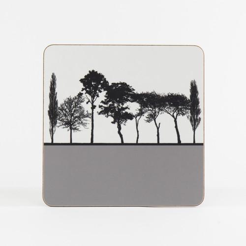 Grey British landscape table mat by designer Jacky Al-Samarraie