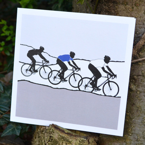 Jacky Al-Samarraie White Jersey Cycling Greeting Card