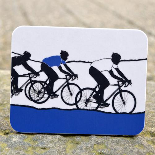 Jacky Al-Samarraie White Jersey Cycling Coaster