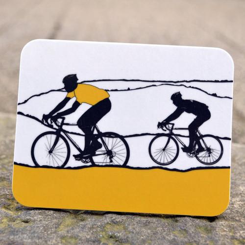 Jacky Al-Samarraie Yellow Jersey Cycling Coaster
