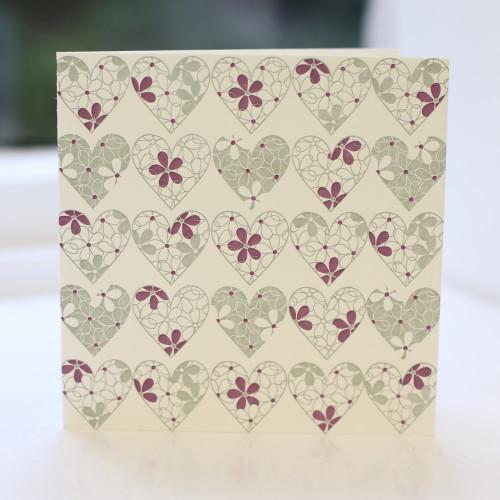 Jacky Al-Samarraie Hearts Greeting Card - Letterpress