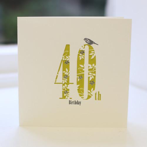 Jacky Al-Samarraie 40th Birthday Card - Letterpress