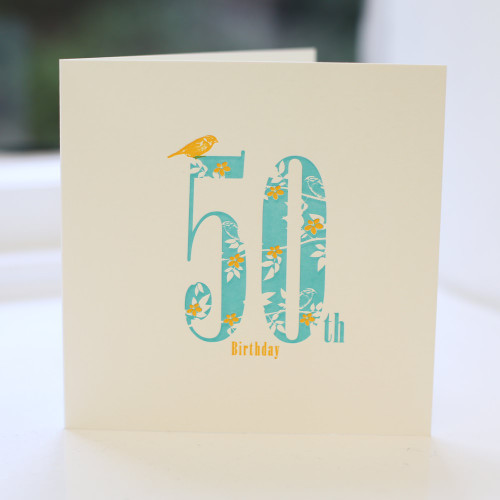Jacky Al-Samarraie 50th Birthday Card - Letterpress