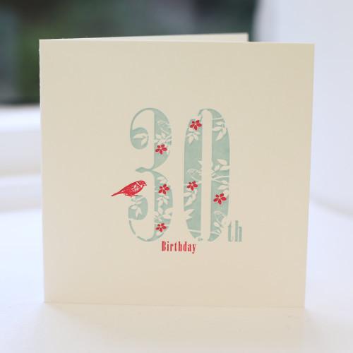 Jacky Al-Samarraie 30th Birthday Card - Letterpress