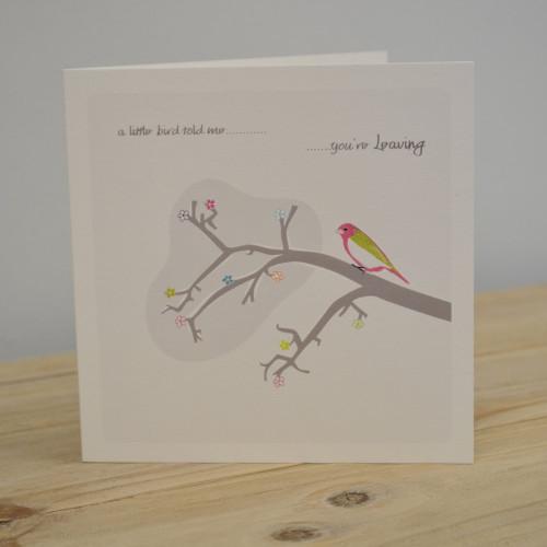 Jacky Al-Samarraie Little Bird Leaving Card